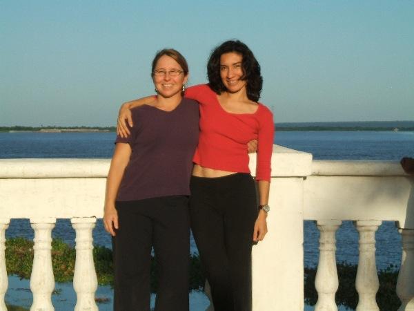 Con Jennifer Salk en Villa Hayes
